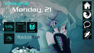 Hatsune miku desktop - windows 8 themed [windows7] by infinity258
