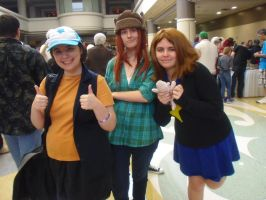 Megacon '13: Dipper, Wendy, and Mabel by NaturesRose