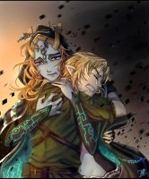 LoZ: At Least one Last Hug by kalisami