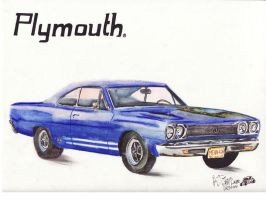 1968 Plymouth GTX by FastLaneIllustration