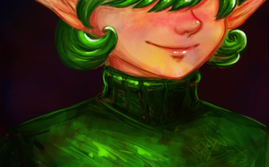 Saria's Smile by paintitwithcoffee