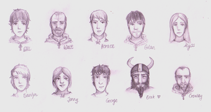 Ranger's Apprentice Characters by Shotechi
