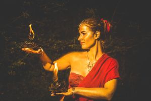 Indian Firedance with Palmtorches by SheevrasHain
