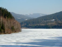 Stock 263: frozen lake by AlzirrSwanheartStock