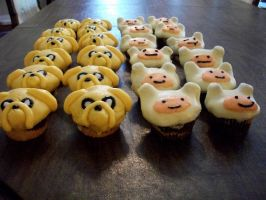 Finn and Jake Cakes! by LOLSquidyLOL