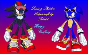 Sonic and Shadow Papercraft v1 by Sabi996