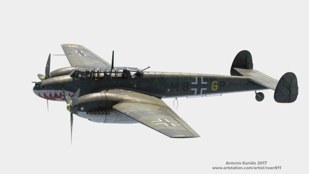 Bf-110 3D model FInished by rOEN911