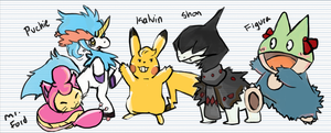 Giant! Tomatoes characters as Pokemon! by Lunelu