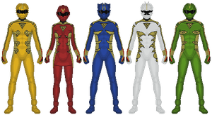 The Five Fingers of Poison Rangers by TwilitMoon