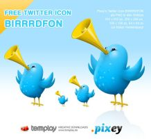 Twitter Icon BIRRRDFON by templay-team