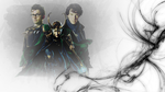 Loki Sherlock and The Doctor Wallpaper by The-Light-Source