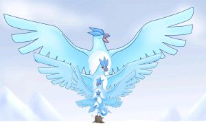Crystal Articuno Commission by Articuno