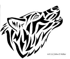 Howling abstract style by jmillart