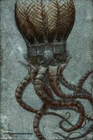 the roboctopus ballroom airship by andyvanoverberghe