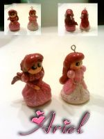 Pink Ariel Charm Before and After by AshiviAlpha
