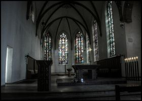 Kirche St. Agnes in Hamm (HDR) by skywalkerdesign
