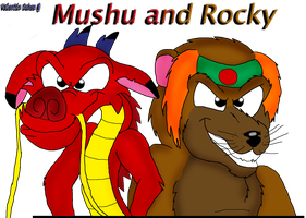 Mushu and Rocku  ( mischievous smile ) by valentinfrench