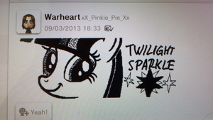 Twilight Sparkle Wii U drawing by Warheart156