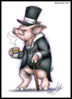 Comm: TopHat Pig by Boltonartist