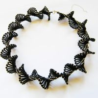 Dark Wave beaded DNA gothic necklace by Sol89