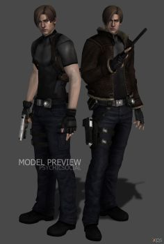 Leon Kennedy RE4 Remade WIP 2 by psychicsocial