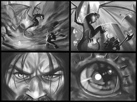 Dragon slayer Concept sketches by RoninDude
