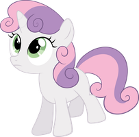 Sweetie Belle looking up by Myardius