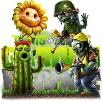 P v Z- Garden Warfare by RajivCR7