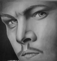 WIP 2 - Leonardo DiCaprio by PurpleStrawberry4