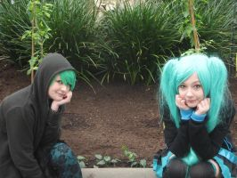 Gumi and Miku in the Nature by Kawaii9413