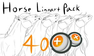 Horse Lineart Pack by 11IceDragon11