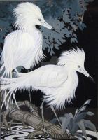 Egret Painting 2 by HouseofChabrier