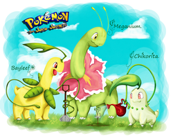 chikorita evolutions by Soshasil12