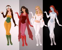 X-Men Past and Present Villainesses by alefolla