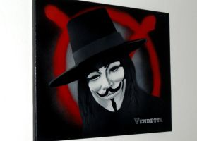 V for Vendetta Painting by Gcrackle1
