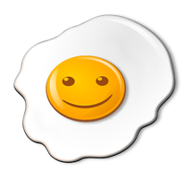 Smiling Objects - Fried Egg by mondspeer