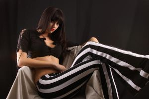 Sitting striped by AshleyShyD