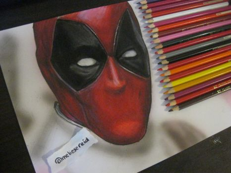 Deadpool Drawing WIP by MelieseReidMusic