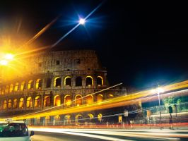 Colosseum by Night by superflyninja