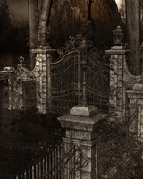 Cemetery Gates 1-old Movies by BlackDragynStock