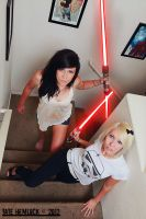 Girls With Lightsabers 01 Glow Version by tatehemlock