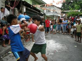 street boxing by Dinuguan