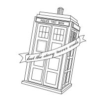 Tardis Tattoo but the story never ends by Thira-Evenstar