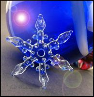 Snowflake - Lampwork Glass Bead by andromeda