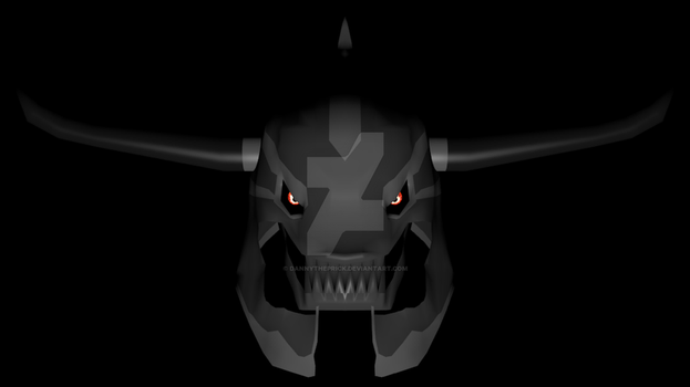 Chaos knight helmet (with a few changes) by dannytheprick