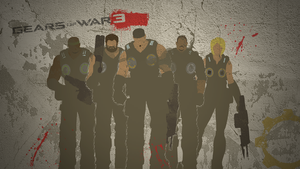 Gears of War 3 - Wall Art by flashmcgee