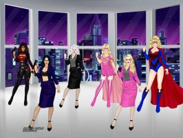Peril City Heroines and Femme Fatales by Kmon13