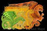 Dragons of Every Dawn YG, Y, YO, O by rachaelm5