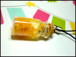 Mac-n-Cheese Mobile Strap by GrandmaThunderpants