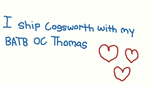 I ship Cogsworth and my BATB OC together :D by ChippanyTheChipster